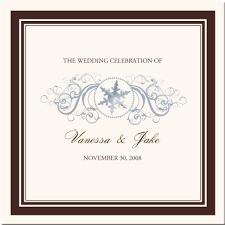 Christmas Wedding Programs Winter Theme Wedding Program Snowflake Church Directory Christmas