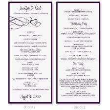 tea length wedding program template 19 best programs images on wedding programs wedding