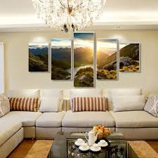 online get cheap sunrise paint aliexpress com alibaba group 5pieces set sunrise view with beach wall art for wall decor home decoration picture paint