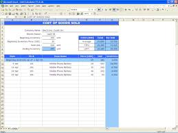 Free Restaurant Inventory Spreadsheet Cost Of Goods Sold Calculator Excel Templates