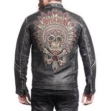 leather riding jackets affliction custom renegade rider leather jacket black leather
