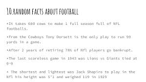10 facts about american football 1