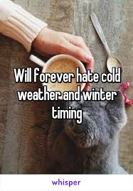 forever cold weather and winter timing