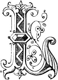 i ornamental letter clip library