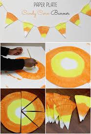 halloween decor paper plate candy corn banner arts u0026 crafts