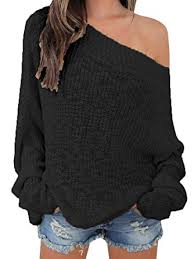 pullover sweater beautife shoulder sleeve knit oversized