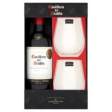 wine set gifts wine and stemless glasses gift set tesco groceries