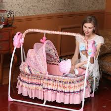 Swing Crib Bedding Baby Cribs Bedding Electric Baby Cradle Bed With