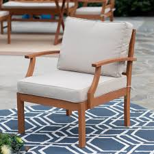 belham living brighton outdoor wood deep seating chat set hayneedle
