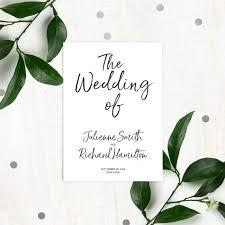 flat wedding programs stylish lettered printable wedding programs diy calligraphy