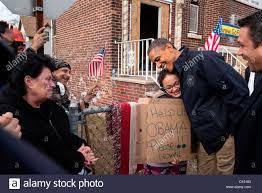 us president barack obama greets residents on cedar grove avenue