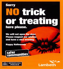 no halloween trick or treat here u2013 poster download lambeth