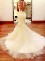 custom mermaid sheer sweetheart neckline keyhole lace wedding