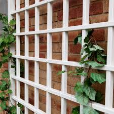 dura trel winchester wall mounted white vinyl trellis hayneedle