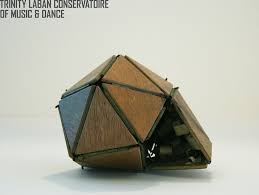 icosahedron that opens icosahedric model made from wood flickr