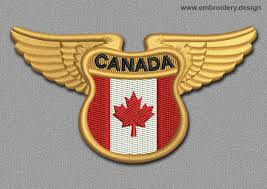 Flag Of Canada Flags Patch Winged Flag Of Canada