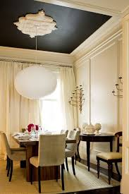 neutral color palette dining room transitional with demilune table