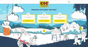 gift cards for kids kids choice kids choice gift cards and vouchers for children