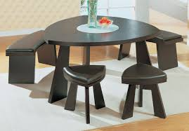 dining room tables with bench furniture contemporary dining space with triangle black wood