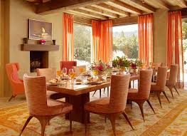 Country Dining Rooms Rustic Style Country Dining Room Dominated Light Brown Colour