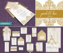 diy elegant lace wedding invitation template suite
