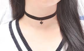 collar necklace black images Super cool womens choker necklace black crystal velvet delicate jpg
