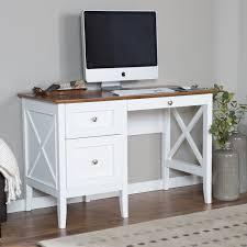 belham living hampton desk with optional hutch white oak jet com