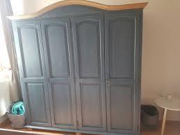 Schlafzimmer Schrank Natur Gebraucht Schlafzimmerschrank Vollholz Blau Natur In 2650
