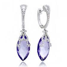 white gold dangle earrings diamond dangle earrings clip marquise 14k white gold