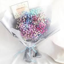 baby breath rainbow bouquet baby breath bouquet spread florist