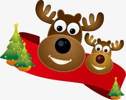 imagenes animadas de renos de navidad reno de navidad pintado a mano de dibujos animados reno navidad