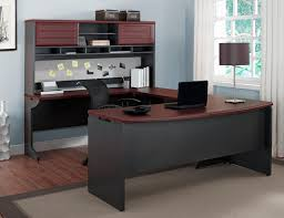 Modern Executive Desks by Ameriwood Furniture Pursuit U Configuration Bundle Desk Bridge