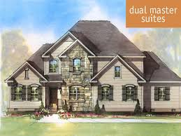 in suite homes riverside a dual master suite house plan schumacher homes