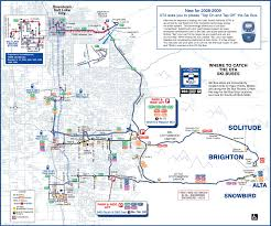 Utah Map With Cities And Towns by Utah Ski Bus Map U2022 Mapsof Net
