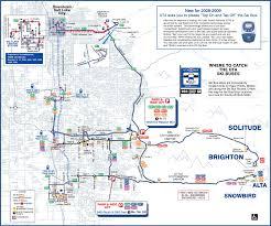 Utah Maps by Utah Ski Bus Map U2022 Mapsof Net