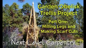 garden obelisk trellis build part one the legs youtube