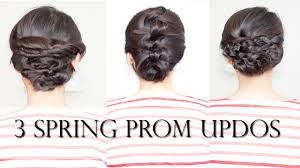 3 easy spring prom updo tutorial no heat labellemel