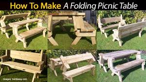 Plans For Building Picnic Table Bench by Outdoor Folding Picnic Table Outdoorlivingdecor