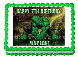 amazon com incredible hulk party decoration edible cake image