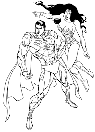 dc comic superhero woman coloring pages womanmate