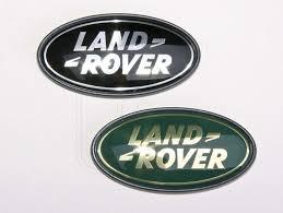 land rover logo land rover logo heck farbe schwarz silber aufkleber badges