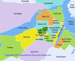 map attractions boston sightseeing map boston discovery guide