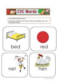 N Cvc Words by 15 Free Esl Cvc Words Worksheets