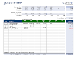 Tracker Excel Template Free Savings Goal Tracker For Who Budget