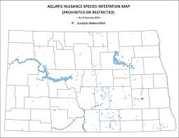 Map North Dakota Ans Infested Waters In North Dakota North Dakota Game And Fish