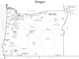 State Map Of Oregon by Oregon Airport Map Oregon U2022 Mappery