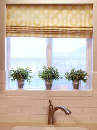 kitchen window roman shades