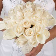 Roses And Lilies Bridal Bouquet Calla Lilies And Ivory Roses Duo Include Flower