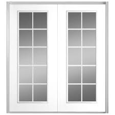 Jeld Wen Exterior French Doors by Jeld Wen 72 In X 80 In White Left Hand Inswing Steel French