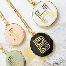 gold monogram necklace gold monogram necklace wedding gifts bridal shower party